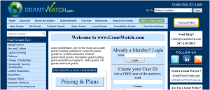 GrantWatch home page