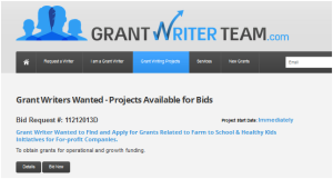 grantwriter team projects available